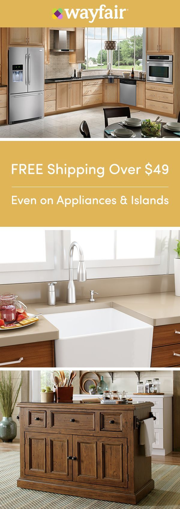 Sign up for access to exclusive sales, all at up to 70% OFF! Get your kitchen in tip-top shape with everything you need for an easy reno. From backsplash to updated fixtures and small-space solutions, you can get it all at the best price possible and in a style you love. To top it off, we're offering FREE shipping on all orders over $49.