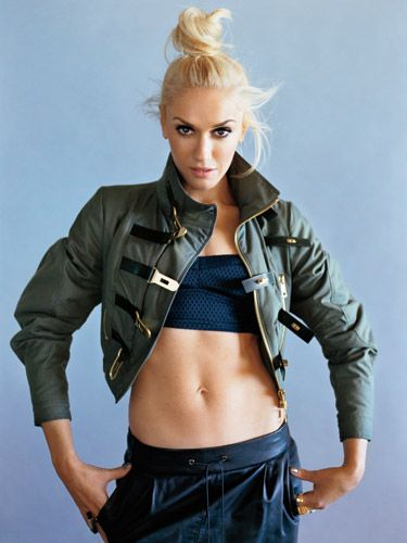Gwen Stefani--LOVE IT!!! Diggin the topknot, the make-up and the outfit. She just rocks.