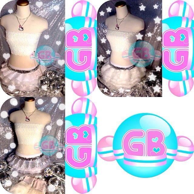 Custom Clubwear / Ravewear by Glitter Bubbles *GB tutus *GB sparkle bandeau tops