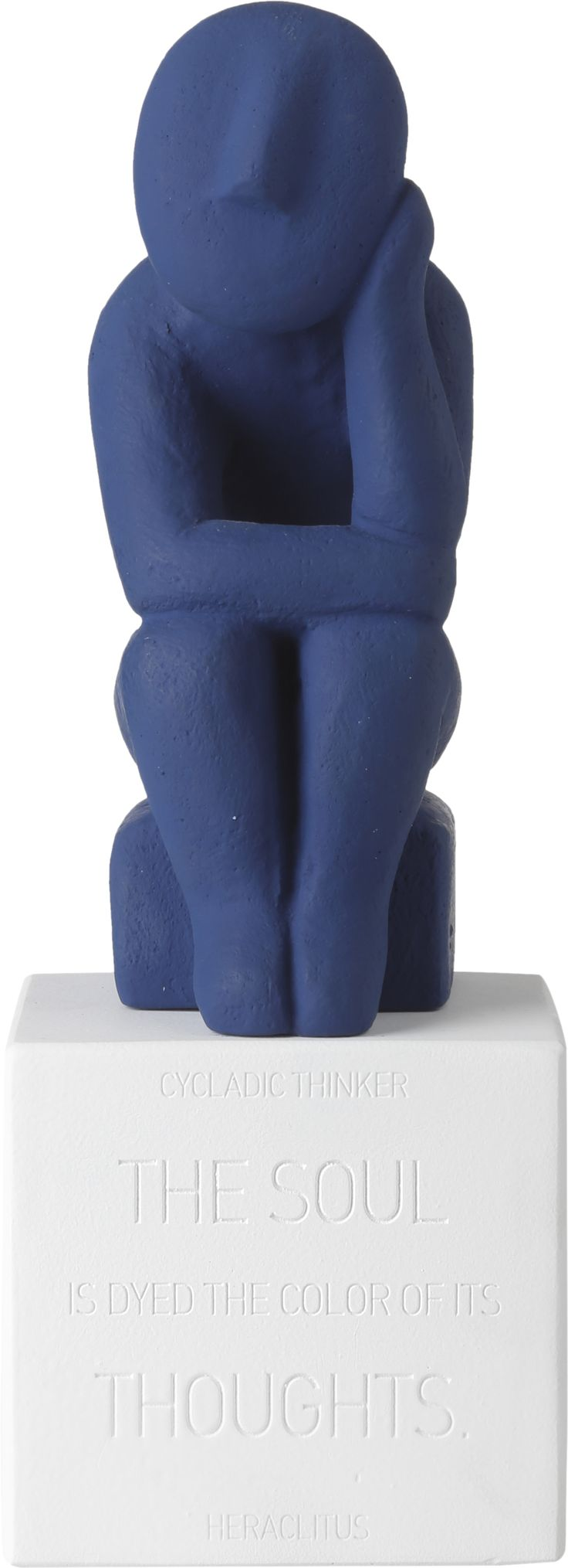 Cycladic Thinker Extra Large. Material: Ceramine Color: Midnight blue