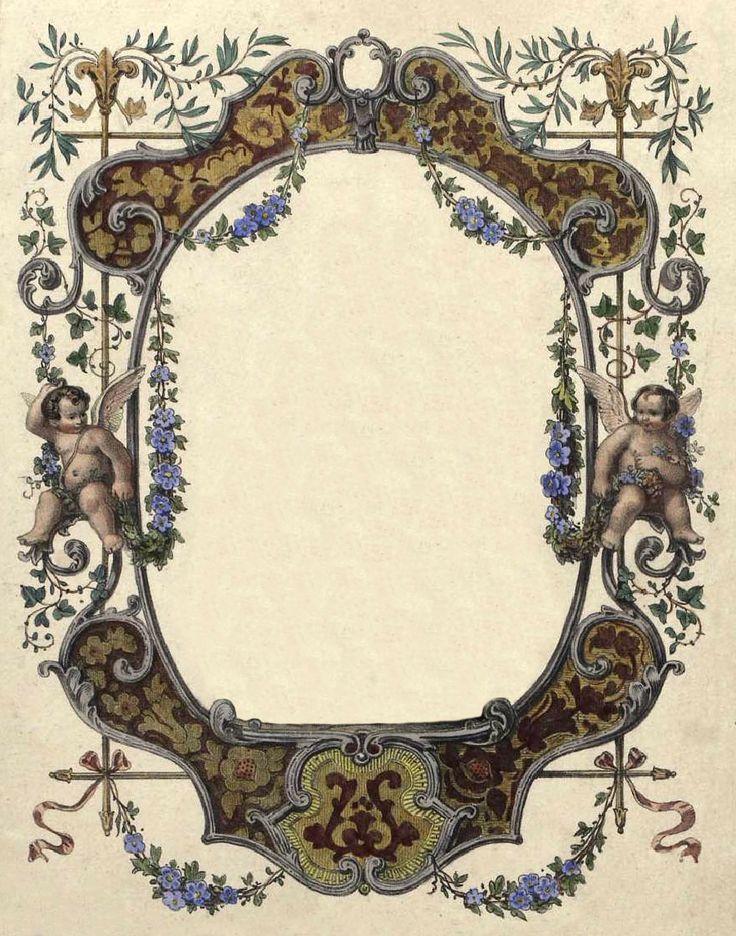 Vintage Cherubs Frame ~ LÁMINAS ANTIGUAS 3-Ideas y Trabajos terminados (pág. 803)