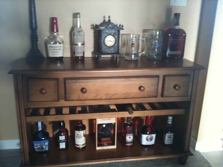 Refurbished Kitchen Table Countertop Decorating Ideas Pictures Best 25+ Dresser Bar On Pinterest | Man Cave Wall ...
