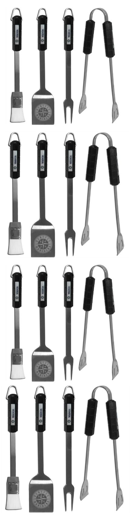 Seattle Mariners 4 pc BBQ Set! Click The Image To Buy It Now or Tag Someone You Want To Buy This For. #SeattleMariners