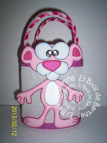 Elaborada en foami   Tamaño  19cm   Precio  $22.00     DULCERO         Elaborado en Yute Blanco y decorado con   Foami Glitter rosa   As...