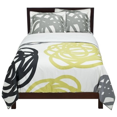 We kind of like this comforter to go with the gray but i really would