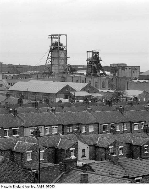 AA92/07043. Easington Colliery And Housing, Easington Colliery, County Durham. Photographer: Bob Skingle. For more information or to search our collections please click on the image.