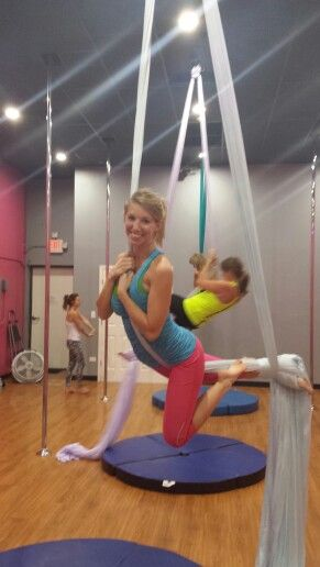 Beginner Aerial Silks class! October 19, 2014
