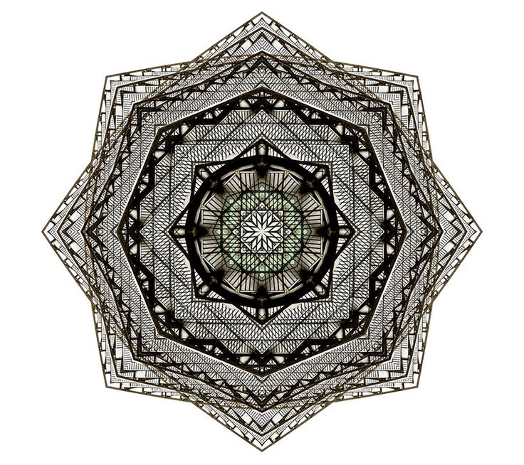 kaleidoscopic architectural compositions by cory stevens