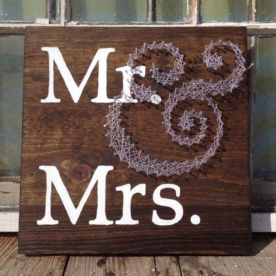 Herr und Frau String-Kunst-Zeichen von NailedItDesign auf Etsy