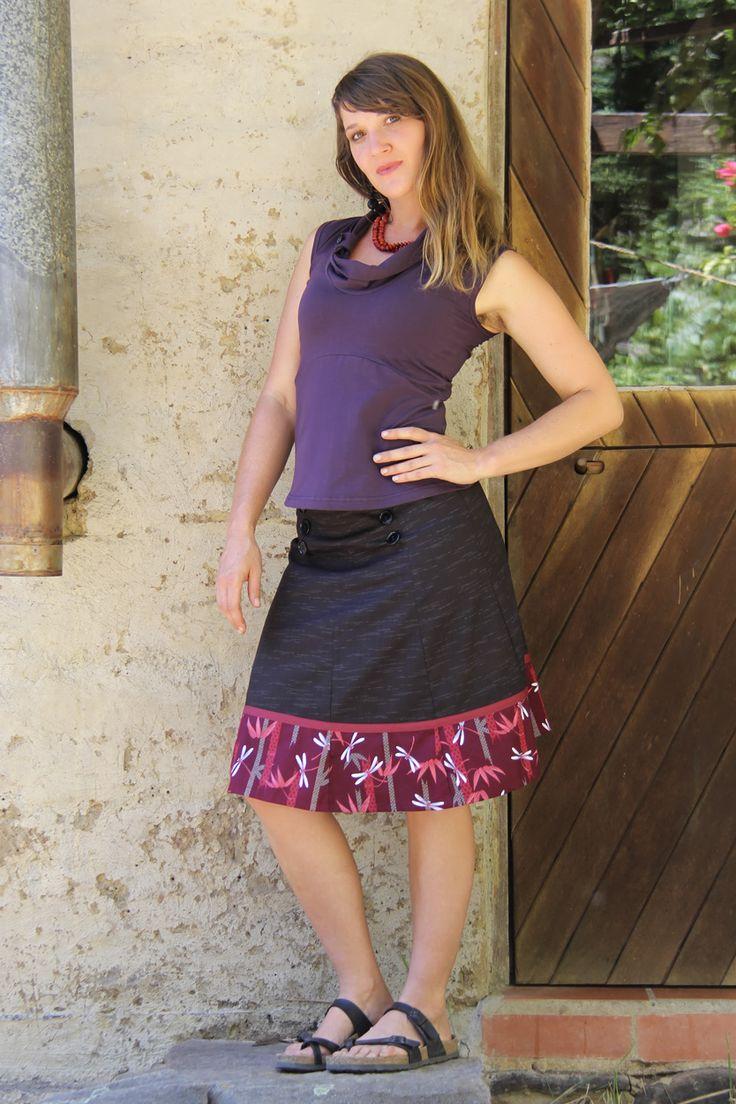 Sailor Skirt - Dragonfly Japanese cotton. Ethically Australian made.