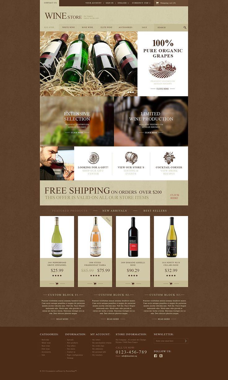 25 best wine web site images on pinterest design websites site wine store prestashop theme website templatewebsite pronofoot35fo Gallery