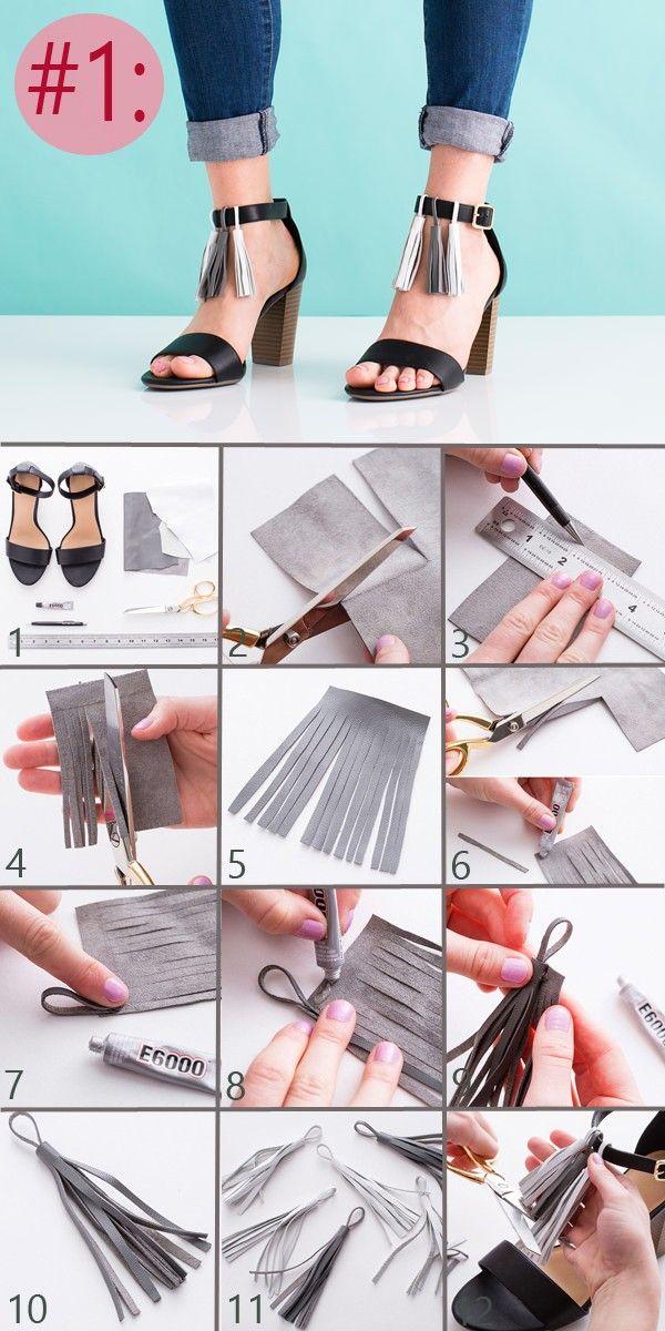 3 ideas para decorar tus zapatos paso a paso ~ Solountip.com