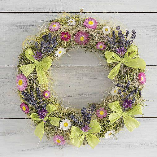 Lavender easter wreath