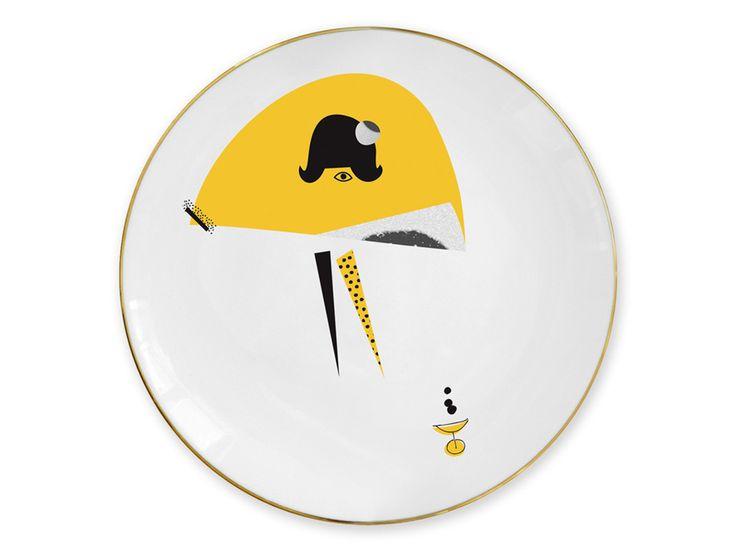 """""""Yellow skirt"""" plate / Talerz """"Yellow skirt"""""""