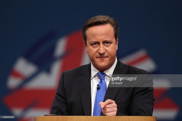 British Prime Minister David Cameron delivers his keynote speech to delegates on the last day of the annual Conservative Party Conference at Manchester Central on October 2, 2013 in Manchester, England. During his closing speech David Cameron said that his 'abiding mission' would make the UK into a 'land of opportunity'.