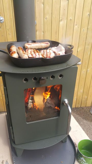 Cooking breakfast on the Bushmaster Camp Stove