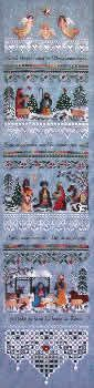 Heirloom Nativity Sampler offered by Nordic Needle