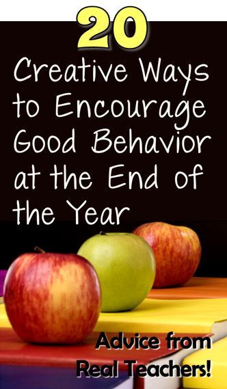 Do you dread the end of the year? Check out 20 Creative Ways to Encourage Good Behavior at the End of the Year for ways to keep your students energized and on task!
