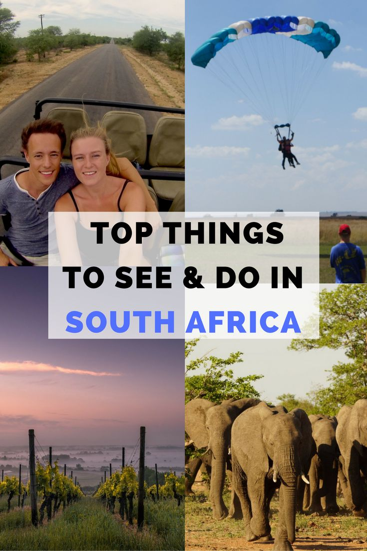 Top things to see and do in South Africa. What to do in South Africa. Travelling to South Africa. Tips for travelling Adventure Travel.