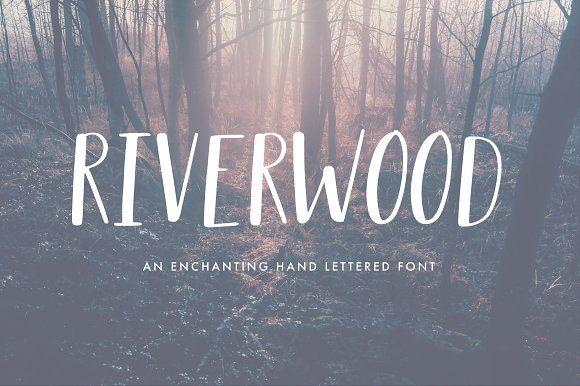 Riverwood Font by Sasha Hickson on @creativemarket