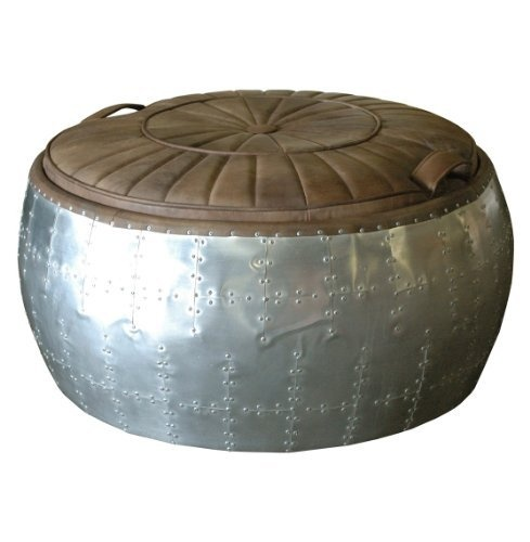 Spitfire Aviator Turbine Round Top Grain Leather Ottoman by Kathy Kuo Home, http://www.amazon.com/dp/B009RWDO2I/ref=cm_sw_r_pi_dp_Al45qb082H85G