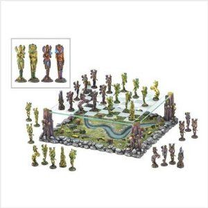 Faerie World Mythical Fairy Battle Chess Board Game Set $82.95
