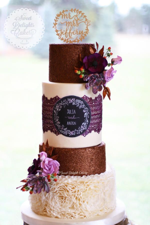 Autumn's Glow by Sweet Delights Cakery - http://cakesdecor.com/cakes/217281-autumn-s-glow: