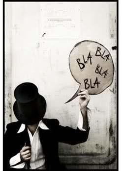 black and white bla bla bla