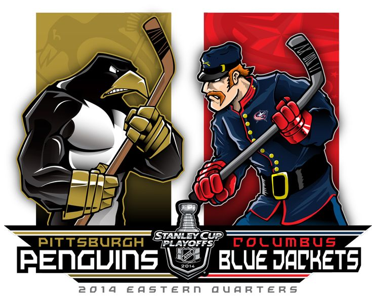 2014 NHL Playoffs Rd 1 Pens vs Jackets by Epoole88