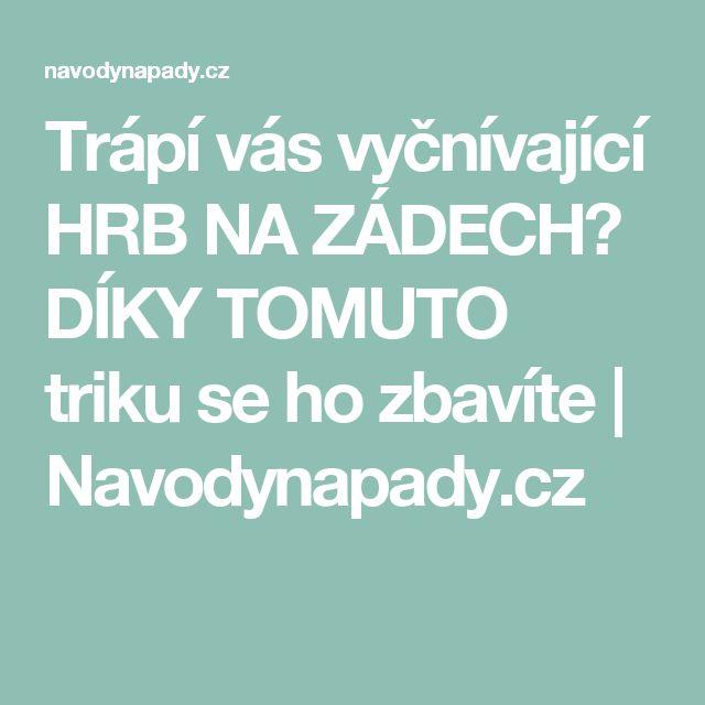 Trápí vás vyčnívající HRB NA ZÁDECH? DÍKY TOMUTO triku se ho zbavíte   Navodynapady.cz