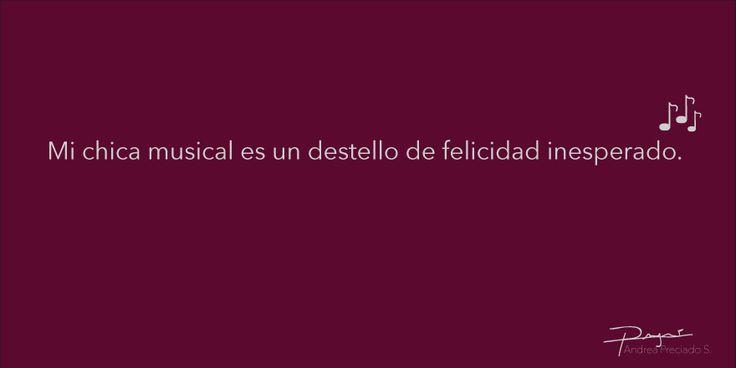 """""""Un destello de felicidad inesperado."""" #frases #corazón #enamorada #enamorado #amor #feliz #poema #recuerdo #tiempo #recuerdo #volar #cantar #sorpresa #ojos #mirada #sonrisa #partitura #música #palabras #felicidad #destello #inesperado"""