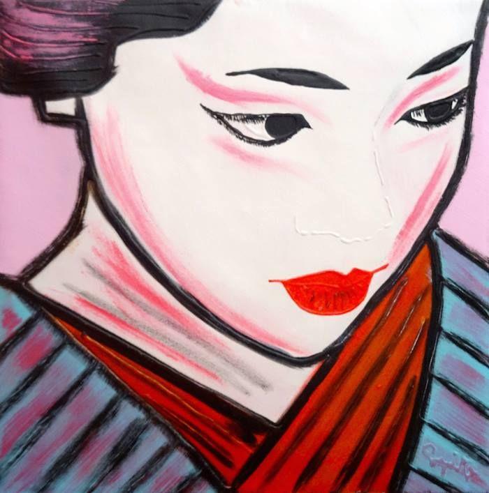 HARMONY - 50x50 cm. Acrilc on canvas - 2014 - #GEISHA
