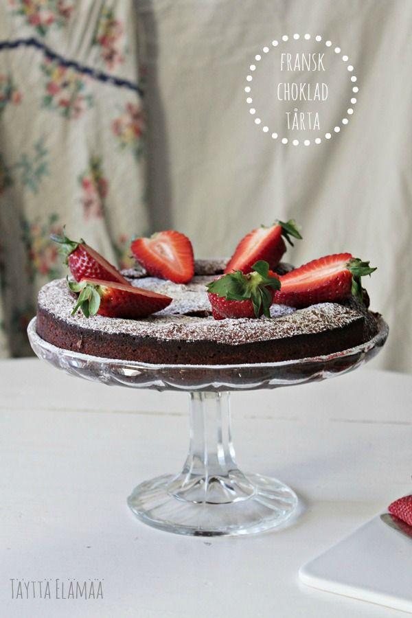 Ranskalainen suklaakakku, Fransk chokladtårta, French cocolate cake