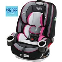 ABOUT TIME - Graco - Forever Car Seat - 4-in-1 seat grows with your child, so you can enjoy 10 years of use, from 4 - 120 lbs. 6-position recline adjust to fit and keep your growing child comfortable; it's comfy for them and convenient for you.
