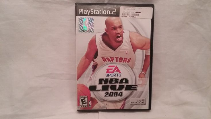 playstation 2 game nba live 2004 with book and case