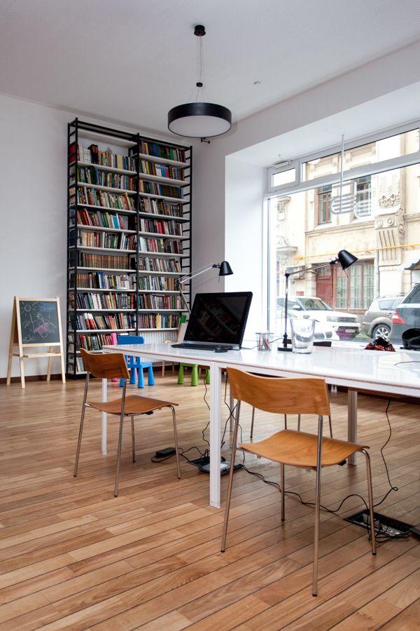 Media Library with SENAB Russia. Lammhults. Campus. Chair. Walnut. Oak.