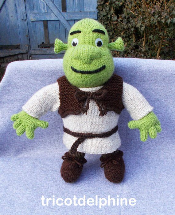 knitting pattern toy green ogre shrek amigurumi  a98199c4357