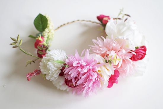 Realistically, flower crowns this large really are kept for photo shoots and getting that perfect shot but thesmaller, more practical crowns are used in everyday hair styling. Description from stylememint.com. I searched for this on bing.com/images