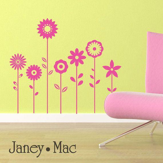 Flower Wall Decal  Vinyl Sticker Wall Art Florals by JaneyMacWalls, $25.00