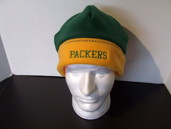 Green Bay Packers' Fleece Hat by tandmhandmade on Etsy
