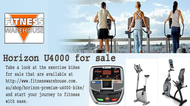 Take a look at the exercise bikes for sale that are available at http://www.fitnesswarehouse.com.au/shop/horizon-premium-u4000-bike/ and start your journey to fitness with ease.