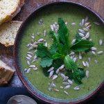 I Quit Sugar Pea + Broccoli Soup by Jacqueline Alwill