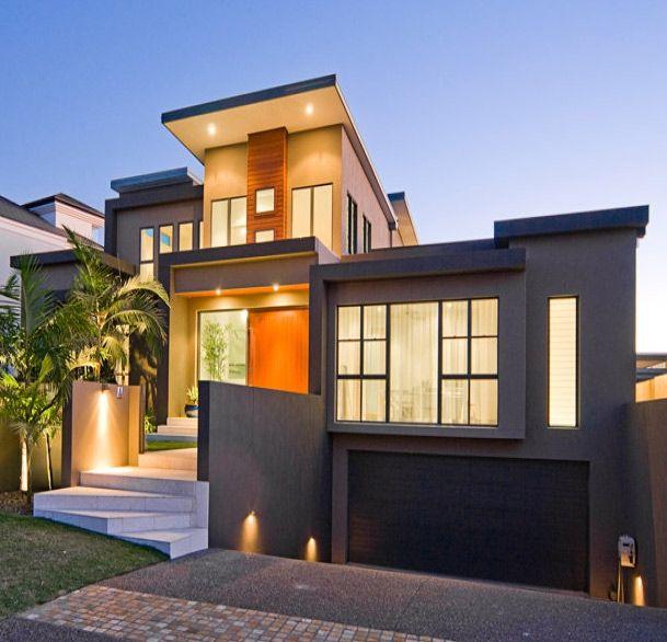 Minimalist modern facade casas pinterest facades for Minimalist house facade