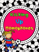 "Kicking up Homophones!   We are working on homophones and using our interactive notebooks to help us to refer back to what we have learned. This soccer themed activity allows my students to match the ""words that sound the same but spelled differently"" (our little chant to remember what they are) and record what the words mean in our notebooks. Head on over to grab your own copy.  grammar Homophones interactive notebook soccer"