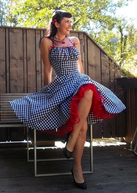 Jupe cercle complet de robe pin up Robe Lollipop en Vichy