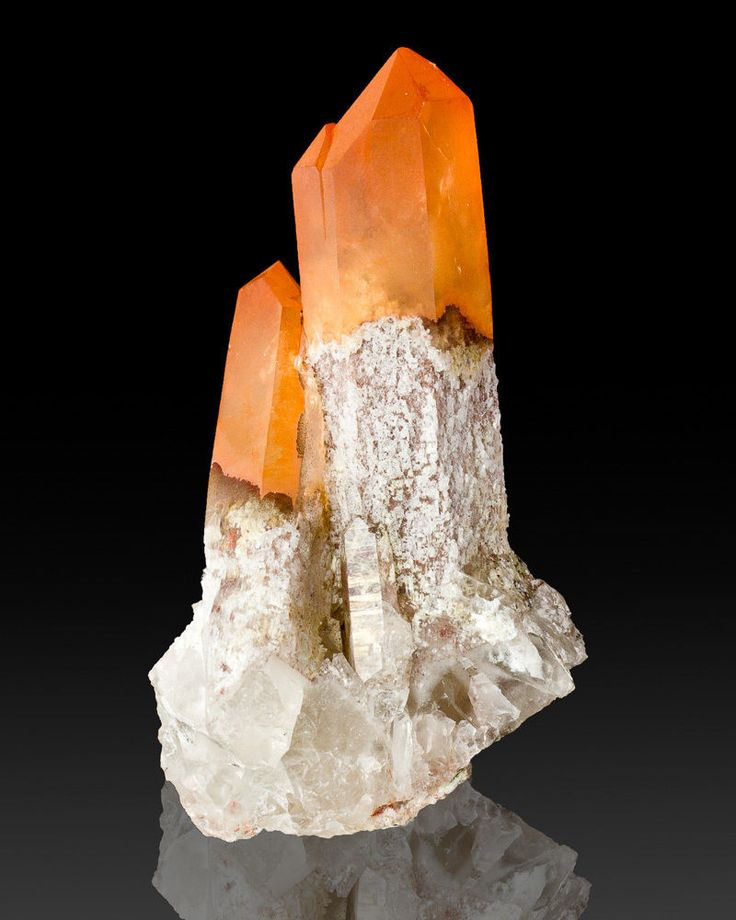 Orange Quartz (iron oxide inclusions) - Orange River, South Africa / Mineral Friends <3
