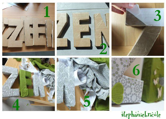 Diy id e de d co zen faire soi m me cartons galets tissus craft for Cadre pour decoration maison