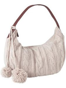 Cable Knit Handbag