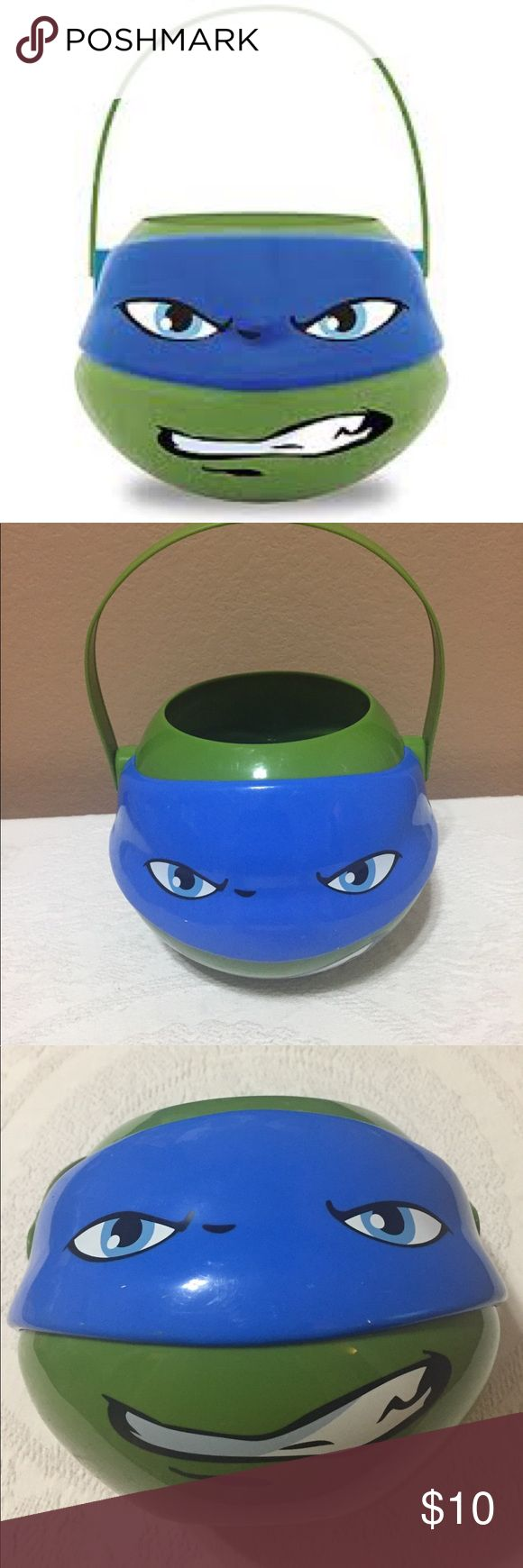 Ninja Turtle Halloween / Easter Bucket Shows signs of use. Looks to have been preloved by a little ninja turtle fan. Has a few marks that I was unable to remove.  See pics ⭐️check out my entire closet for more vintage and costumes⭐️ Nickelodeon Accessories Bags