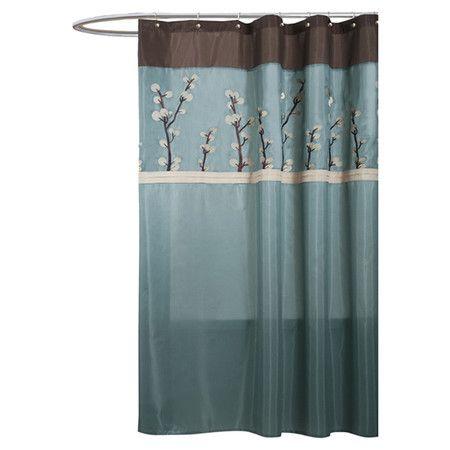 curtains ideas aqua and brown shower curtain inspiring